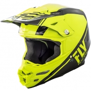 2018 Fly Racing F2 Carbon Helmet - Rewire Hi Viz Black