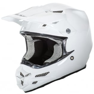 2018 Fly Racing F2 Carbon Solid Helmet - Gloss White