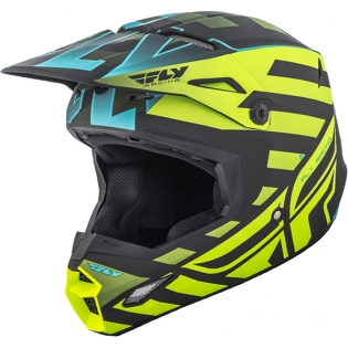2018 Fly Racing Elite Helmet - Interlace Hi Viz Blue Black