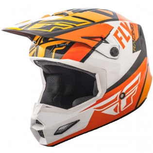 2018 Fly Racing Kids Elite Helmet - Guild Gloss Orange White Black