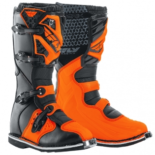2018 Fly Racing Maverik MX Boots - Black Orange