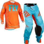 2018 Fly Racing Lite Hydrogen Kit Combo - Orange Blue