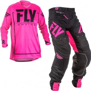 2018 Fly Racing Lite Hydrogen Kit Combo - Neon Pink Black