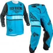 2018 Fly Racing Kinetic Kids Kit Combo - Era Blue Black