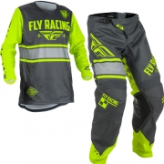 2018 Fly Racing Kinetic Kids Kit Combo - Era Grey Hi Viz
