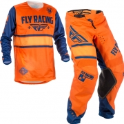 2018 Fly Racing Kinetic Kids Kit Combo - Era Orange Navy