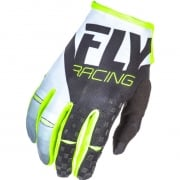 2018 Fly Racing Kinetic Gloves - Black White Hi Viz