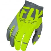 2018 Fly Racing Kinetic Gloves - Grey Hi Viz