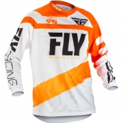 2018 Fly Racing F16 Jersey - Orange White