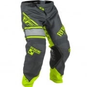 2018 Fly Racing Kinetic Kids Pants - Era Grey Hi Viz