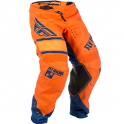2018 Fly Racing Kinetic Kids Pants - Era Orange Navy