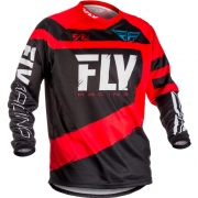 2018 Fly Racing F16 Kids Jersey - Red Black