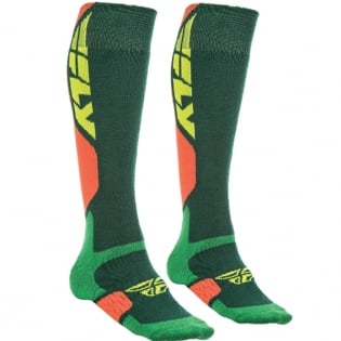 Fly Racing MX Pro Thick Socks - Green Orange