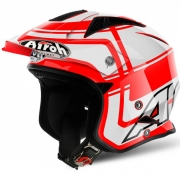 2018 Airoh TRR Trials Helmet - Wintage Red White Gloss