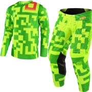Troy Lee Designs GP Kit Combo - Maze Flo Yellow Green