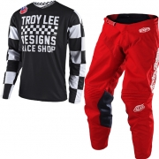 Troy Lee Designs GP Kit Combo - Checker Black Red