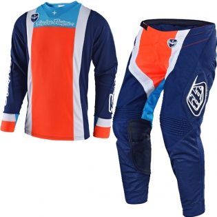 Troy Lee Designs SE Kit Combo - Squadra Navy Orange