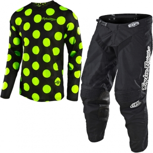 Troy Lee Designs GP Kit Combo - Polka Dot Flo Yellow Black