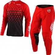 Troy Lee Designs SE Kit Combo - Megaburst Red Black