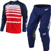 Troy Lee Designs SE Kit Combo - Streamline Red Navy Blue