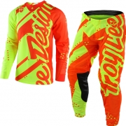 Troy Lee Designs Kids GP Kit Combo - Shadow Flo Yellow Orange
