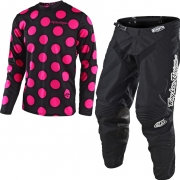 Troy Lee Designs Kids GP Kit Combo - Polka Dot Black Flo Pink