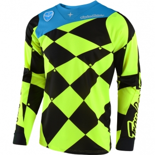 Troy Lee Designs SE Jersey - Joker Flo Yellow Black