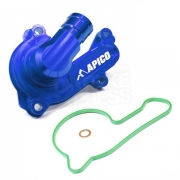 Apico Anodised Water Pump Cover - Husqvarna Blue