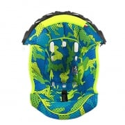 Airoh Aviator 2.2 Spare Centre Liner - Yellow Blue