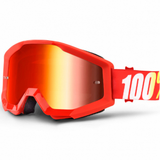 100% Strata Kids Goggles - Furnace Red Mirror Lens