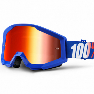 100% Strata Kids Goggles - Nation Blue Mirror Lens