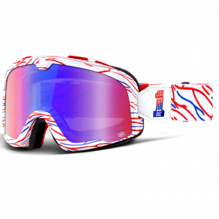 100% Barstow Classic Goggles - Death Spray Silver Lens