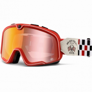 100% Barstow Classic Goggles - OSFA 2 Red Lens
