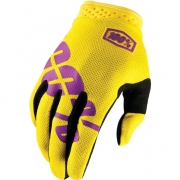 100% iTrack Motocross Gloves - Yellow