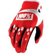 100% Airmatic Gloves - Red White