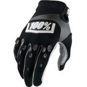 100% Airmatic Gloves - Black Grey