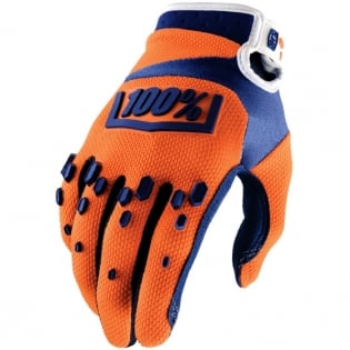 100% Airmatic Gloves - Orange Navy