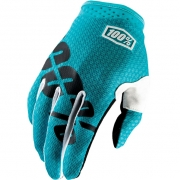 100% iTrack Kids Motocross Gloves - Teal