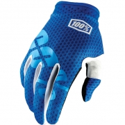 100% iTrack Kids Motocross Gloves - Blue
