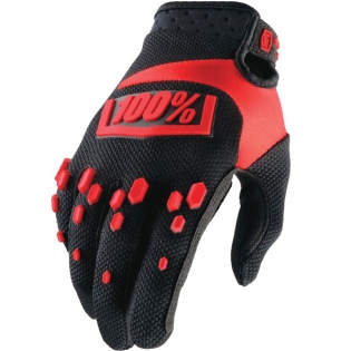 100% Airmatic Kids Gloves - Black Red
