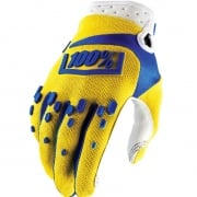 100% Airmatic Kids Gloves - Yellow