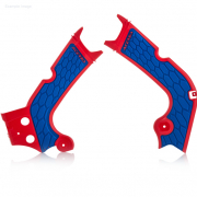 Acerbis Honda X-Grip Frame Guards CRF - Red Blue