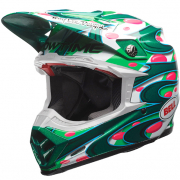 Bell Moto 9 Carbon Flex Helmet - McGrath Replica Green