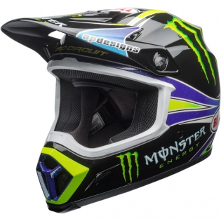 Bell MX9 MIPS Helmet - Pro Circuit Monster Replica 18.0