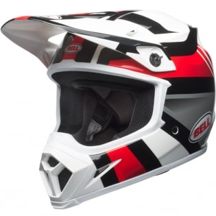 Bell MX9 MIPS Helmet - Marauder White Black Red