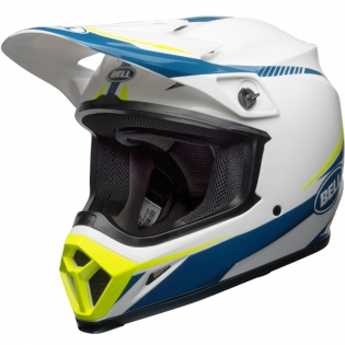 Bell MX9 MIPS Helmet - Torch White Blue Yellow