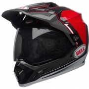 Bell MX9 MIPS Adventure Helmet - Berm Black Red White