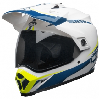 Bell MX9 MIPS Adventure Helmet - Torch White Blue Yellow