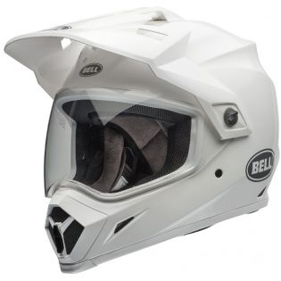 Bell MX9 MIPS Adventure Helmet - Solid White