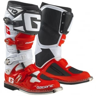Gaerne SG12 Motocross Boots - Limited Edition White Red Black